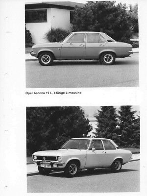 1970 Opel Ascona 19 L Two & Four Door Sedan ORIGINAL Factory Photo oac0744