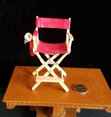 Dollhouse Miniatures Willitts Take A Seat By Raine Directors Chair 1:12