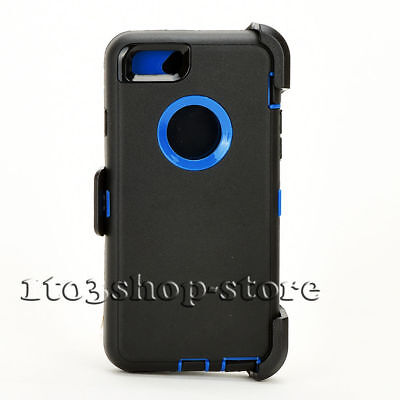 iPhone 6 Plus iPhone 6s Plus Case w/Belt Clip fits Otterbox Defender Black/Blue