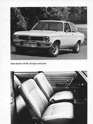 1970 Opel Ascona 19 SR 2 Door Sedan & Interior ORIGINAL Factory Photo oac0745