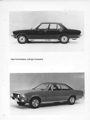 1969 Opel Commodore Sedan & Commodore Coupe ORIGINAL Factory Photo oac0757