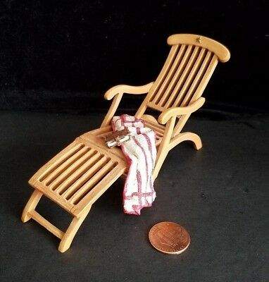 Dollhouse Miniatures Willitts Take A Seat By Raine On Deck Chair 1:12