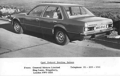 1968 Opel Rekford Berlina Saloon ORIGINAL Factory Photo oac0804