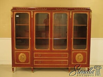 28896EC: French Louis XVI Italian Made 4 Door Bookcase China Cabinet