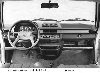 1980 Peugeot 305 SR Wheel & Dashboard ORIGINAL Factory Photo oac0846