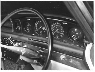 1970 Rover 3500 Steering Wheel & Instrument Panel ORIGINAL Factory Photo oac0888