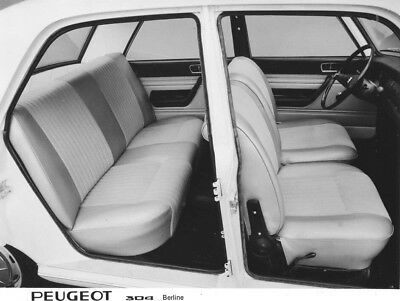 1970 Peugeot 304 Berline Interior Side View ORIGINAL Factory Photo oac0840
