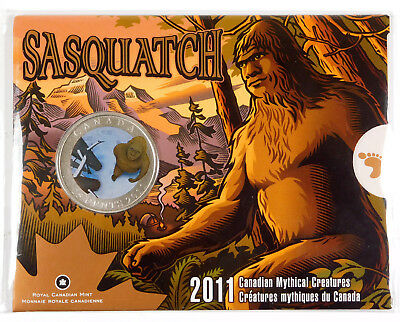 2011 Canada 25 Cents Mythical Creatures - Sasquatch - Original Mint Packaging