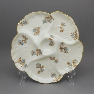 Antique Victorian Era French Haviland Limoges France Porcelain Oyster Plate