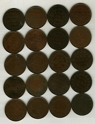 20 Large Canada Pennies