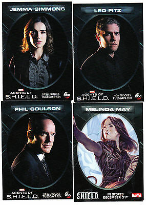 2015 Abc Marvel Calendar Agents Of Shield Promo Card Set Of 4 Fitz May Simmons