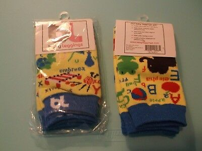 Nwt 2 Prs. Baby Leggings - Alphabet - Protect Knees