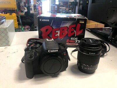 CANON REBEL EOS T5i DS126431 DSLR Camera w Lense & Charger FREE SHIPPING!