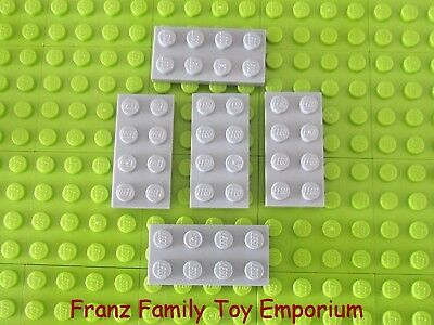 NEW Light Bluish Grey Rounded Bottom Tile LEGO 2654 4 Pieces