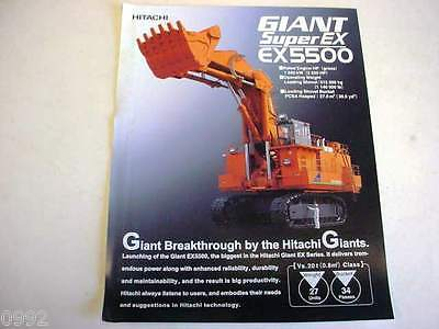 Hitachi Super EX5500 Excavator Literature                                     b2