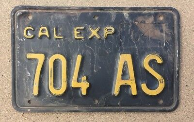 1964 California Motorcycle license Plate