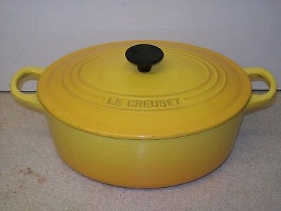 Le Creuset Cast Iron 25 cm Yellow Oval Casserole Dish Pan