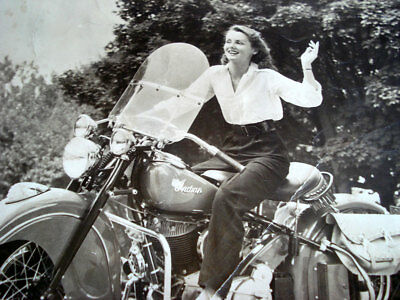 Indian Chief Motorcycle Promotion Photo ~ Grace Flynn