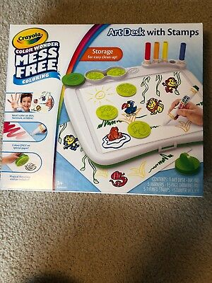 CRAYOLA COLOR WONDER Mess-Free Art Desk with Stamps, 5 ...