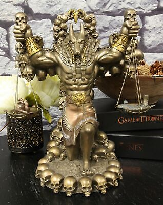 "Pacific Giftware Ancient Egyptian Anubis God Miniature Statue Bronze Finish 12""H"