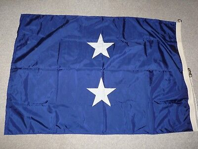 """Original US Navy Rear Admiral Command-at-Sea Flag (41"""" x 62"""") - 1975 dated"""
