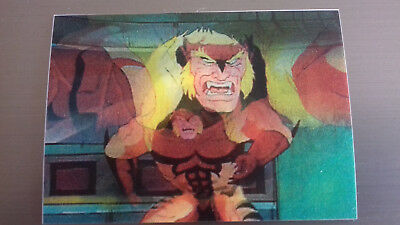 Marvel Motion Skybox 1996 - Basecard No. 12 Sabretooth