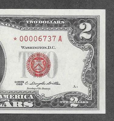 1963 STAR - $2 CCU Red Seal * Fancy Low Starting # 0000 * Replacement Note