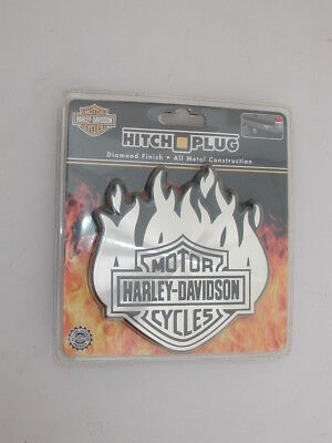 Harley Davidson Flames Hitch Cover Diamond Finish - New!