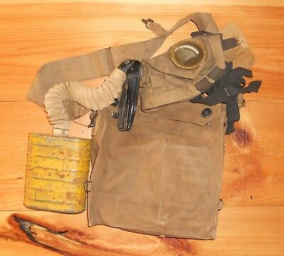 U.s.ww1 Gas Mask,26Th Yankee Div.,101St Infantry Marked!
