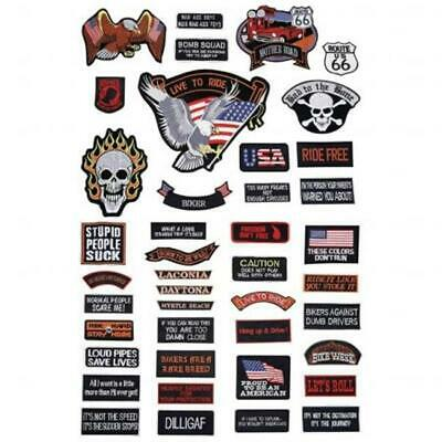 Diamond Plate GFPATCH42 Diamond Plate 42Pc Embroidered Patch Set