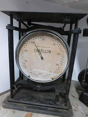 Antique Chatillon 100 Lb Scale New York Will Ship