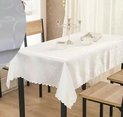 "Good Quality WHITE SQUARE TABLE CLOTH 1.8m x 1.8m /70""x70"""