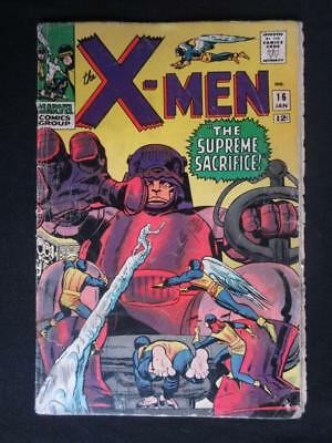 X-Men #16 MARVEL 1966 - Sentinels, Iceman, Marvel Girl, Cyclops, Beast, Stan Lee