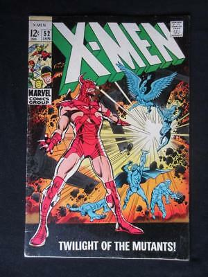 X-Men #52 MARVEL 1969 - Marvel Girl, Cyclops, Angel, Beast, Stan Lee comics!!!
