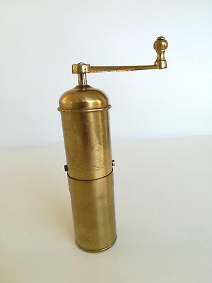Antique Vintage Zassenhaus Mokka Brass Coffee Grinder Moulin A Cafe Kaffeemuhle