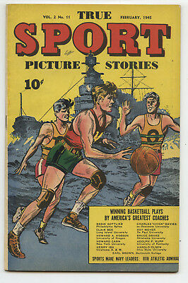 JERRY WEIST ESTATE: TRUE SPORT PICTURE STORIES v.2 #11 Street & Smith 1945 FN/VF