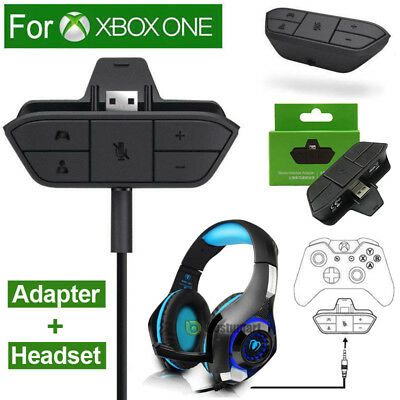 Stereo Headset Adapter Headphone Converter For Xbox One Game Controller/Headset