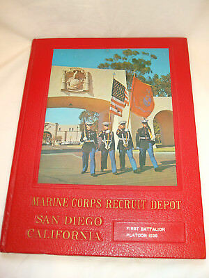 1977 Marine Corps Recruit Depot San Diego Ca Yearbook for 1st Ba. Platoon 1039