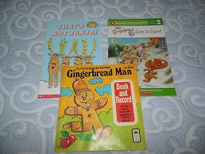 Lot 3 Christmas Holiday Softcover Picture Books