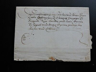 ANTIQUE LATIN OR GERMAN DOCUMENT 1700s ?? HAND WRITTEN 2 PAGE STAMPLESS LETTER !