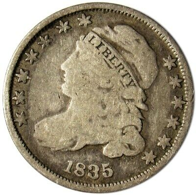 1835 Capped Bust Dime - G - 10c Silver - Good