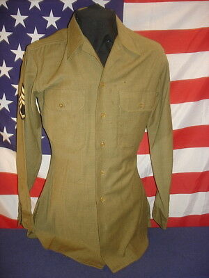 Wwii U.s. Wool Flannel Uniform Shirt