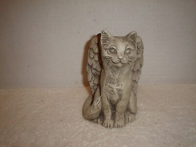 Resin Cat With Angel Wings Figurine Signed Telle M. Stein 1997