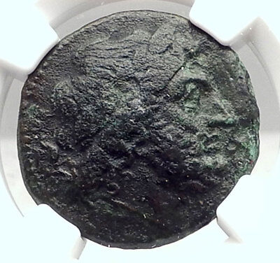 KENTORIPAE in SICILY Authentic Ancient 3-2ndCenBC Greek Coin ZEUS NGC i72882
