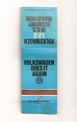 Vintage Matchbook Cover - VW VOLKSWAGON Does It Again