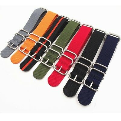 Mens Watch Strap Band Army Military Divers Nylon NATO G10 18mm 20mm 22mm UK