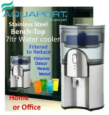 Water Cooler Aquaport AQP 24SS  7Ltr with Carbon Filter - Stainless Steel Look