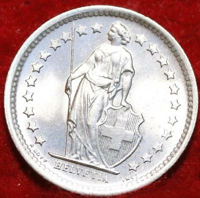 Uncirculated 1967 Switzerland 1/2 Franc Silver Foreign Coin