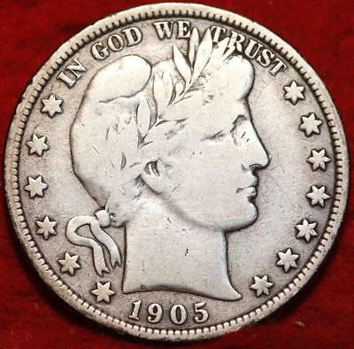 1905-O New Orleans Mint Silver Barber Half Dollar