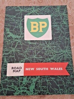 Vintage Road Map~ Bp~ New South Wales ~ Nsw